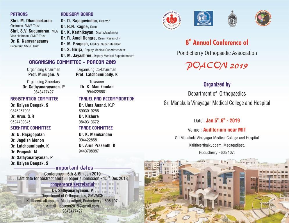 POACON 2019 – Sri Manakula Vinayagar Medical College and Hospital